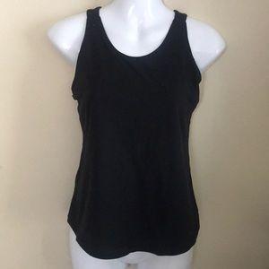 Lululemon black tank top with built in bra